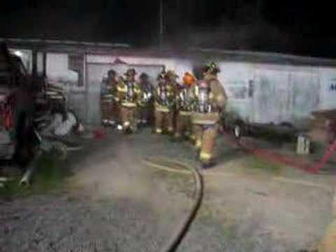 Carls Fencing Fire - Cutting Through Garage Door