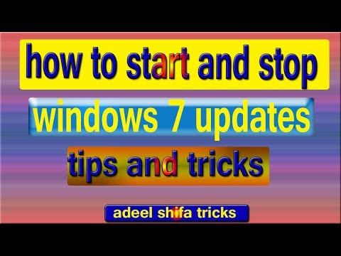 How to Start and Stop Windows 7 Update in Hind adeel shifa tricks