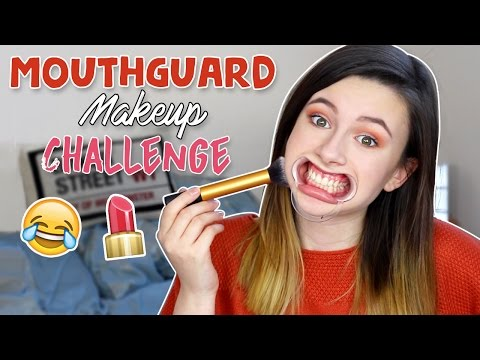 MOUTH GUARD MAKEUP CHALLENGE?! ♡