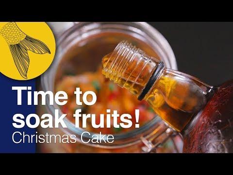 Christmas Fruit Cake Recipe–PART 1: Cake Mixing/Fruit Soaking | Kolkata Christmas Plum Cake at Home