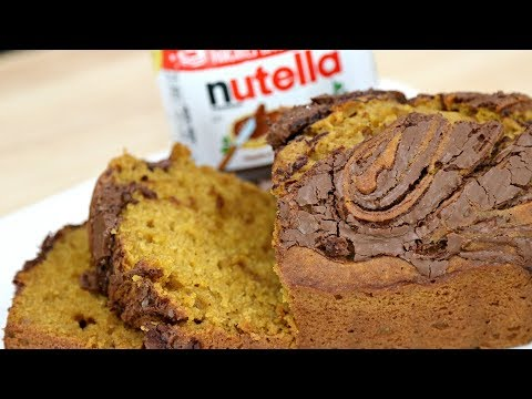 NUTELLA SWIRL PUMPKIN BREAD!