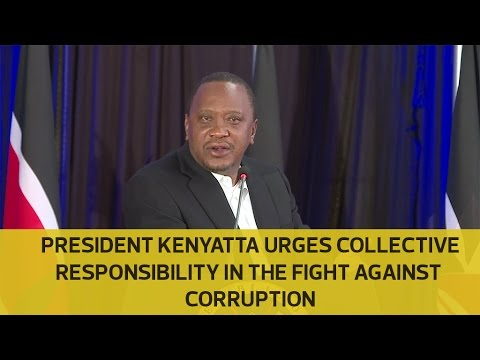 Let's find solutions to fight corruption, not beating each other, Uhuru