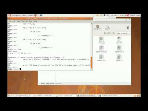 Using GCC, GNU Make, and GDB from the command line