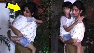 Shilpa Shetty CUTE Moment Holding Son Viaan Kundra In Her Arms