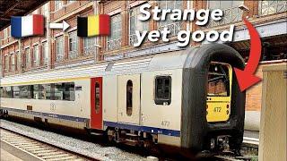 France to Belgium onboard a strange but comfy train set