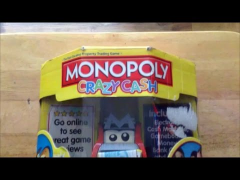 Monopoly Crazy Cash Board Game Unboxing