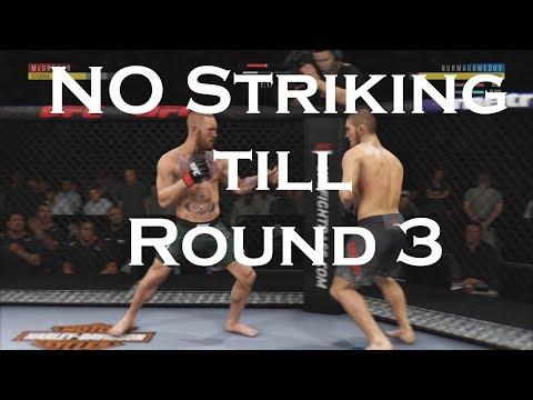 No Striking Until 3rd round Challenge.  EA UFC 3 online challenge.