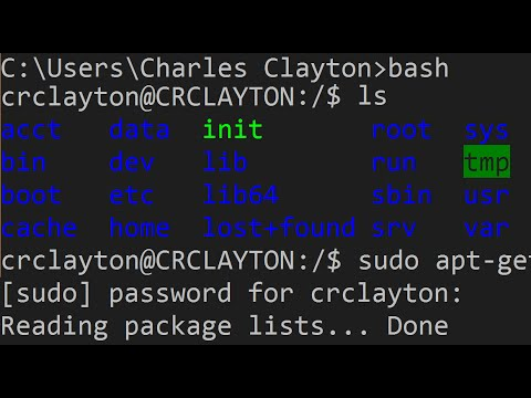 How to Get Bash for Windows (Linux Subsystem)