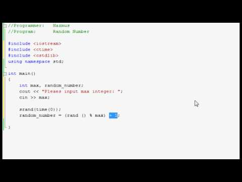 Easy Programming - Beginner C++ Tutorial - Random Number Generator (11)