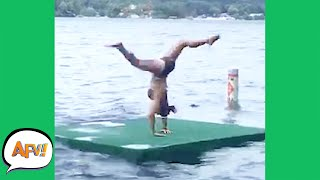 Handstand on the Lake? What Could Go WRONG?! 😂   Best Funny Summer Fails   AFV 2021