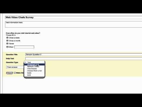 How to do make a survey using google docs