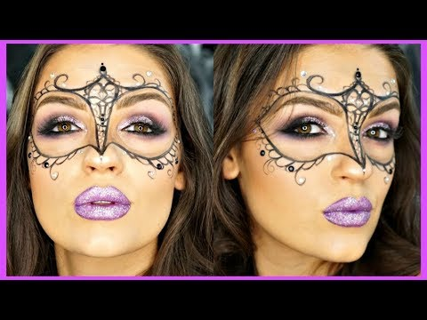 Glittery Masquerade Mask Makeup Tutorial