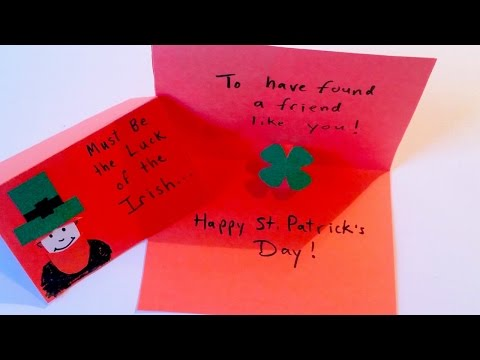 How to Make a Pop-Up Shamrock Card for St. Patrick's Day - Easy Craft for Kids