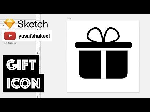 GIFT icon - Sketch - dyIcons - E03 - Yusuf Shakeel