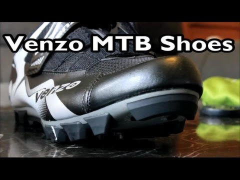 Venzo Mountain Bike Shoes and Pedals - Unboxing - Review - Install