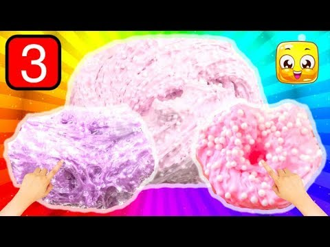 3 Ways To Make Crunchy Slime Recipes! Fishbowl Slime Recipe! Giant Fluffy Slime Videos!