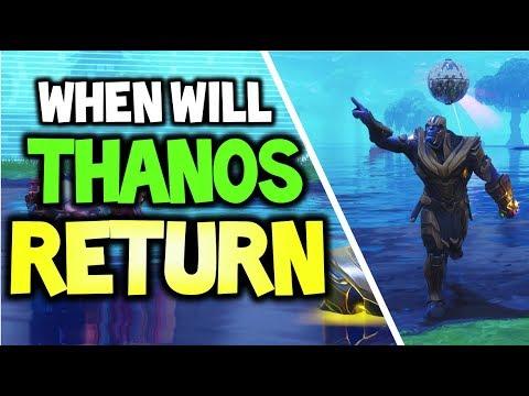 WHEN WILL THANOS RETURN to FORTNITE? (Fortnite Battle Royale Infinity Gauntlet LTM return Date?!)