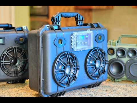 DIY Pelican 1500 Bluetooth BoomBox 50W/ch & 150Whr+ capacity!