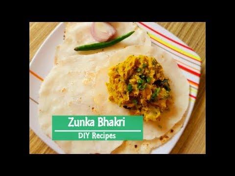 Zunka bhakri by DIY Recipes | झुणका भाकरी | Authentic Maharashtrian zunka bhakri recipe