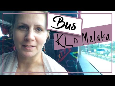 Malaysia Vlog   Kuala Lumpur to Malacca by Bus on Mayang Sari