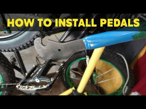 How to install pedals on a mtb | Custom Bike Build