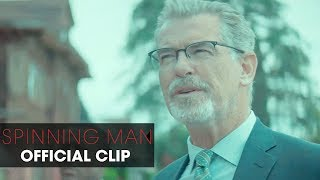 """Spinning Man (2018 Movie) Official Clip """"Routine"""" – Pierce Brosnan, Guy Pearce, Minnie Driver"""