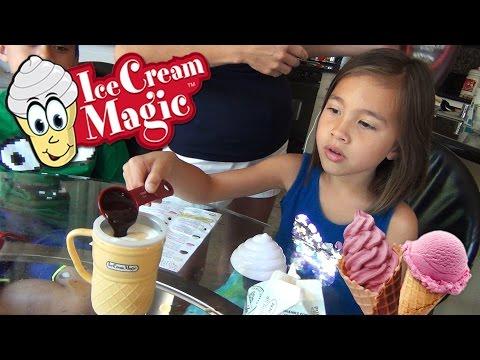 ICE CREAM MAGIC Personal Ice Cream Maker!!! Demo by EvanTubeHD