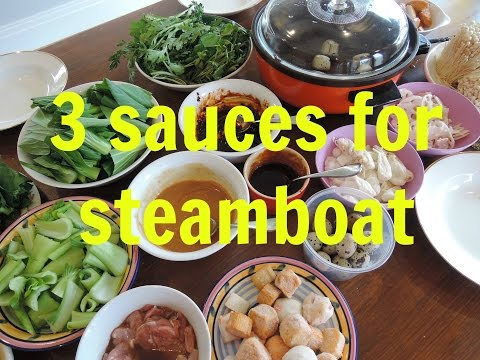 Recipe:  3 sauces for steamboat