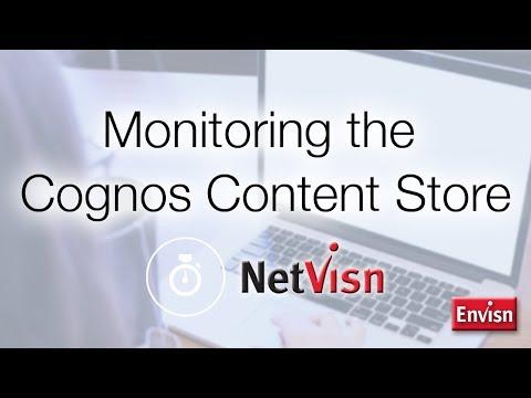 Monitor the IBM Cognos Content Store using NetVisn