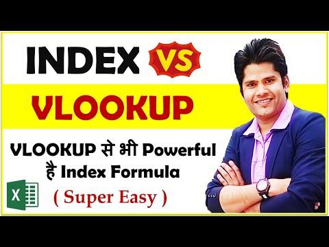Index Formula in Excel - Vlookup से भी Powerful कैसे है ये index function - देखिये
