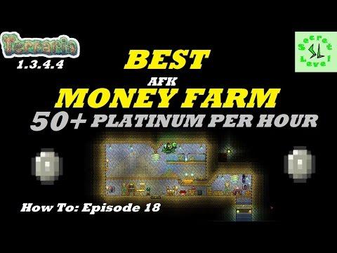 Terraria 1.3.4.4 | BEST MONEY FARM | 50+ PLATINUM/HOUR AFK!! | NO CHEATS | How To Episode 18