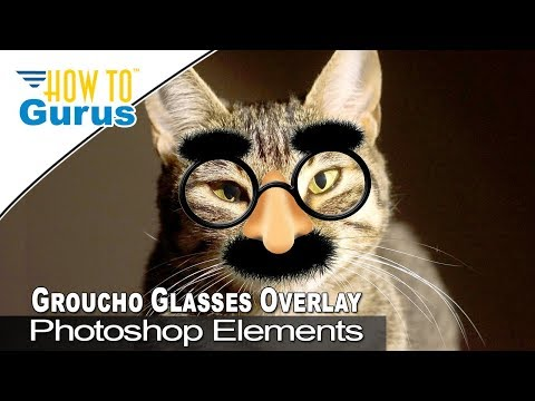 How to Make a Groucho Glasses Overlay in Adobe Photoshop Elements 2019 2018 15 14 13 12 11 Tutorial