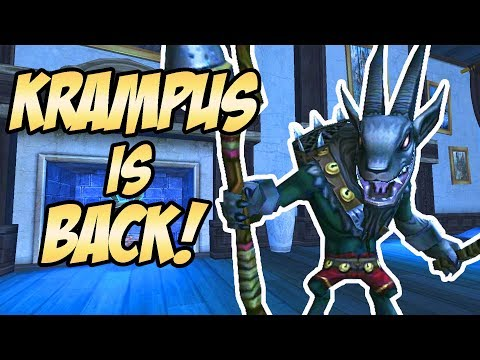 Wizard101: KRAMPUS IS BACK FOR THE HOLIDAYS!