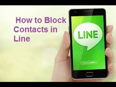 How to block Someone/Contact in Line- Line Tricks