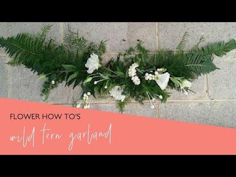 DIY Floral Hanging Fern Wreath