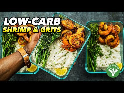 Low-Carb Shrimp & Grits Recipe - Soul Food Meal Prep