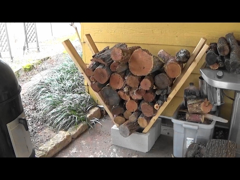 Super Easy Homemade Firewood Rack - No Tools Needed!