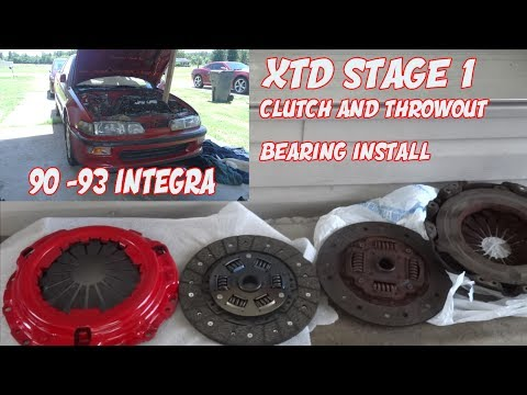 EBAY CLUTCH INSTALL ON 90 - 92 ACURA INTEGRA AND THROW OUT BEARING