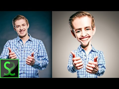 How to make Body Caricature from photo   Photoshop tutorial