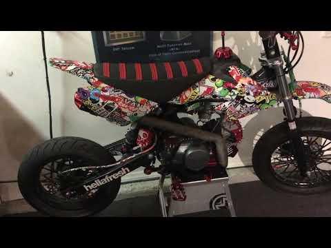 Supermoto pit bike tire size