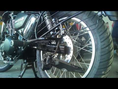 how to change  rear tyre thunderbird