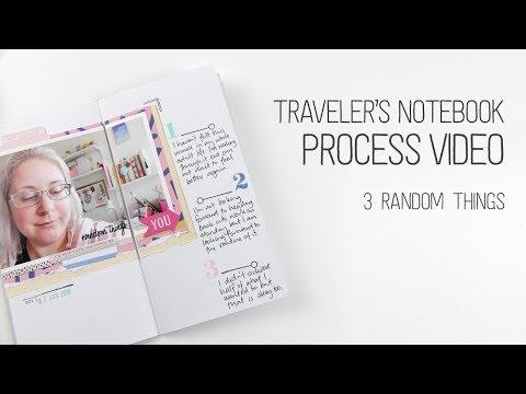 Traveler's Notebook Layout – 3 Random things