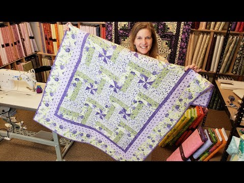 Such an Easy Modification... Let's Make a Pinwheel Rail Fence! | Florentina Rose Quilt Giveaway :)