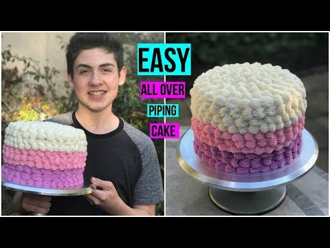 EASY ALL OVER PIPING CAKE -  Baking with Ryan Episode 61