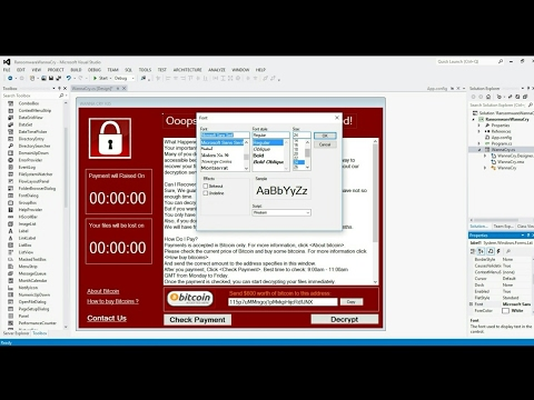 How to Make Ransomware Wanna Cry Virus Design in C#