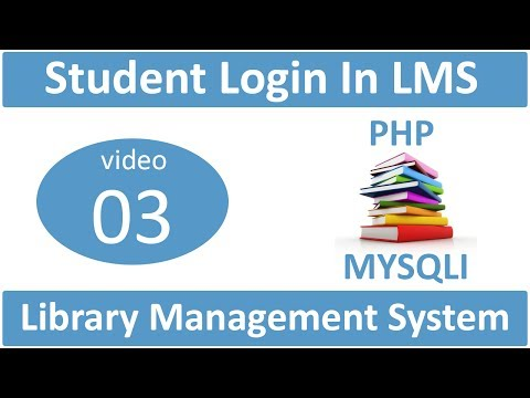 student login in library management system in PHP