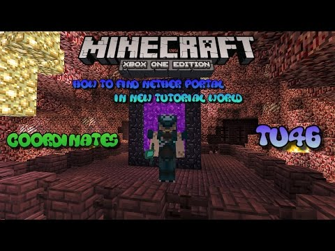 How To Find SECRET Nether Portal In Minecraft Console Edition Tutorial World 2017-with coordinates
