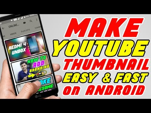 How to Create a Thumbnail on Android Mobile in Tamil - Youtube Free Tutorials in Tamil