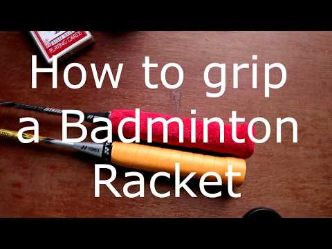 How to apply a grip on your Badminton Racket