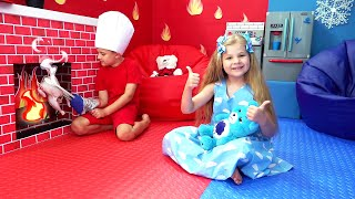 Diana and Roma Play in New Room | Collection of videos for children